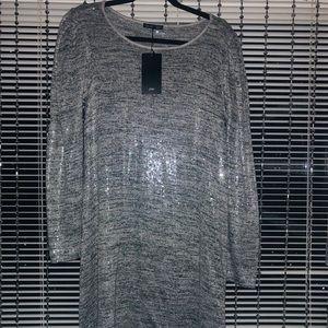 Z A R A NWT Glitter Dress SzM